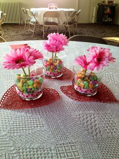 Valentines Day centerpieces