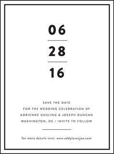 This boldly restrained letterpress wedding invitation design is perfect for a black tie wedding with timelessly formal elegance. Order this suite and save up to through (learn more) Letterpress Save The Dates, Letterpress Wedding Invitations, Wedding Invitation Design, Wedding Stationary, Gala Invitation, Shower Invitation, Save The Date Designs, Youre Invited, Design Quotes