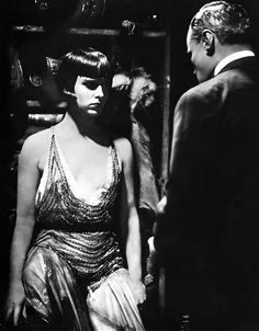 Louise Brooks in G. W. Pabst's 'Pandora's Box' (1929).  The film caused scandal for portraying a sexually free young woman as its heroine, as well as truthfully presenting the world of prostitution.