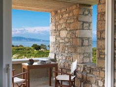 Several Greek and French businessmen are interested in buying the luxurious villa of renowned Greek painter Yiannis Moralis. Architecture, Greek, Villa, Auction, Windows, Patio, Luxury, Outdoor Decor, Furniture