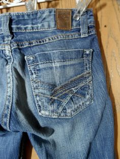 9b0de380e7a BKE Jeans The Buckle 24 Emma Boot Ultra Low Designer Denim Dark wash (28x31)