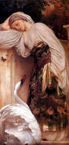 Lord Frederick Leighton - Leda and the Swan