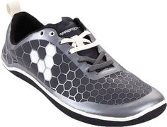These are men's athletic pure shoes from Vivobarefoot, footwear shaped to fit the foot (below the ankle) with a flexible upper of leather or plastic and a sole and heel of heavier material.