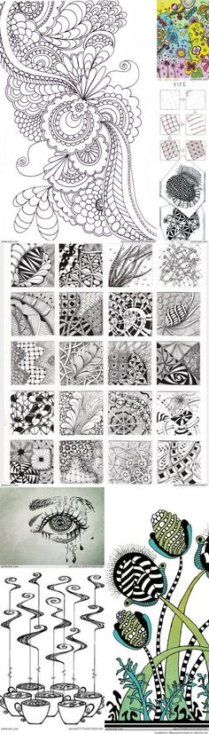 Zentangle-tuto et exemple