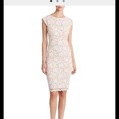 Abs Lace Cap Sleeve White/Cream Dress