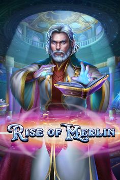 Rise of Merlin is a fantasy-themed online slot. This vibrant game features dazzling graphics and the reels are set in a beautiful hall with whimsical lighting. The reels are populated with symbols featuring dragons, owls and crystal balls. So, you really get the feeling that you're in a magical setting. Crystal Ball, Slot Machine, Merlin, Owls, Dragons, Whimsical, Vibrant, Symbols, Graphics