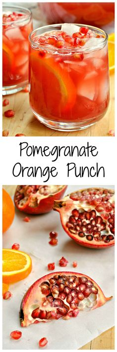 Fizzy and fruity, this Pomegranate Orange Punch is a dream. Perfect for the fall and winter, it is a drink loaded with bright flavors and with the taste of freshness!