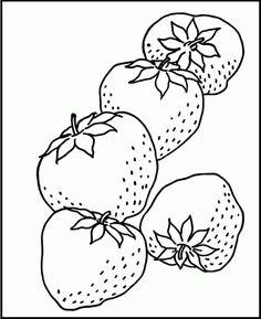 Mewarnai Gambar Strawberry : mewarnai, gambar, strawberry, Fruit, Coloring, Mewarnai,, Gambar,, Warna