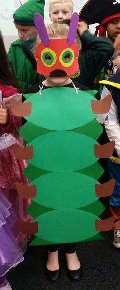 Diy hungry caterpillar costume … - World News Story Book Costumes, Storybook Character Costumes, World Book Day Costumes, Book Week Costume, Book Characters Dress Up, Character Dress Up, Book Character Day, Teacher Costumes, Diy Costumes