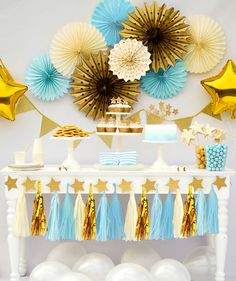 Twinkle Twinkle Little Star Party Boy, Twinkle Twinkle Little Star Baby Shower, Twinkle Twinkle Little Star Party Blue and Gold