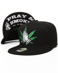 a7692980 Buyers Picks - Praying Marijuana Snapback Hat Men's Hats, Snapback Hats,  Hats For Men