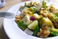 Warme spruitjes salade met blauwe kaas recept ~ lekker, makkelijk, koolhydraatarm ~ www.con-serveert.nl