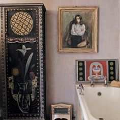 — Vanessa Bell and Duncan Grant's home, Charleston. Vanessa Bell, Cressida Bell, Sussex Gardens, Duncan Grant, Bloomsbury Group, Charleston Homes, Bohemian Interior, Art Fair, Interior And Exterior