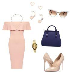 """Elegante style"" by ivonnediaz on Polyvore featuring moda, Massimo Matteo, Michael Kors, Nixon, Lipsy y Gucci"