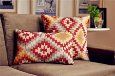 Boho Ethnic Asian Floral Cotton Linen Decorative Pillows Cushion Cover Pillow Sham A062