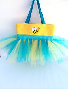 Blue and Yellow Bumble Bee Tutu Bag - Dance Bag - Ballet Tutu Bag on Etsy, $28.00