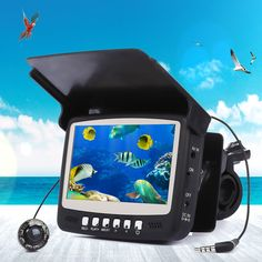 Eyoyo 15M 1000TVL Fish Finder 4.3 inch Screen Underwater Fish Finder Fishing Camera Monitor With Sun Visor Infrared LED Hot Sale -- Find out more by clicking the image