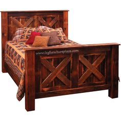 Reclaimed Wood And Aspen Log Bed Made In America