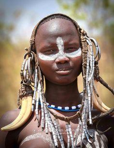 Tribu Mursi, Vallée de l'Omo, Ethiopie - Mursi tribe, Omo Valley, Ethiopia