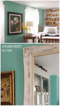 Benjamin Moore Azores To Match Porcelain Blue PB Towels In