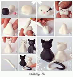 Fondant kitties