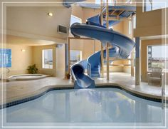 Swimming Pool Indoor Slide