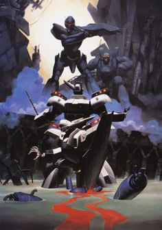 One of my favorite old PatLabor paintings...