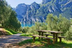 The Dolomites seen from the Lago di Garda