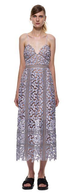 arabella midi dress in smoked lilac