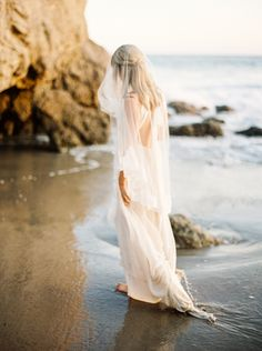 Photography : Donny Zavala | Wedding Dress : Shopgossamer Read More on SMP: http://www.stylemepretty.com/2016/05/19/sunlit-malibu-hills-bride/
