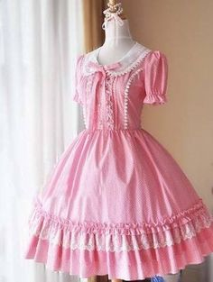 Polka Dots Puff Sleeves Sweet Lolita Dress