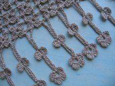 Crochet Borders, Crochet Diagram, Crochet Chart, Crochet Motif, Crochet Flowers, Crochet Lace, Crochet Stitches, Free Crochet, Cross Stitch Patterns