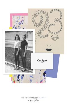 Spring inspired collage / inspiration board The Moody Project: Day 44 — June Letters Design