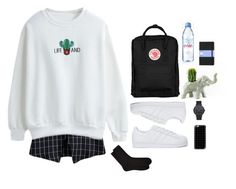 """""""cactus&grids"""" by moon-grrrl ❤ liked on Polyvore featuring Casetify, Accessorize, adidas Originals, Fjällräven and Evian"""
