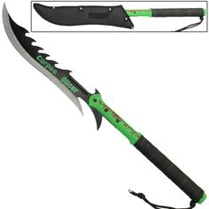 Dwarfed Mercy Kill Corpse Slicer Guan Doa Sword- This Guan Doa is shorter than your regular Guan Doa making it easier to carry with you and to conceal under your duster. The spine has teeth making it easy to saw through bone and a clip point blade fo Zombie Apocalypse Gear, Apocalypse World, Zombie Weapons, Apocalypse Survival, Martial Arts Styles, Tactical Survival, Survival Weapons, Fantasy Sword, Dead Space