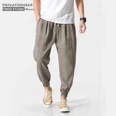 Product Name Privathinker Brand Cotton Linen Casual Harem Pants Men Jogger Pants Men Fitness Trousers Male Chinese Traditional Harajuku Harem Pants Men, Baggy Pants, Mens Jogger Pants, Casual Pants, Men's Pants, Linen Pants For Men, Mens Linen Outfits, Long Pants, Dress Casual