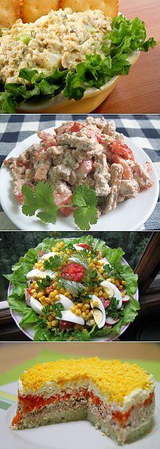 9 салатов со шпротами / Простые рецепты