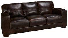 Soft Line-Aspen-Aspen Leather Sofa - Jordan's Furniture