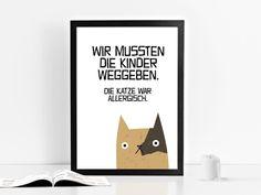 Kunstdruck KINDERALLERGIE von Prints Eisenherz auf DaWanda.com