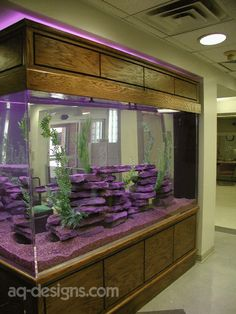 600 gallon aquarium at UAMS ER before remodel.  They donated it to AR Children's Hospital after remodel.