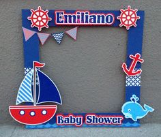 Marco Para Fotos Ba Shower Marinero Ba Shower Con with regard to Baby Shower Marinero - Party Supplies Ideas Baby Shower Niño, Baby Shower Cakes, Baby Shower Parties, Baby Shower Themes, Baby Shower Decorations For Boys, Kids Party Decorations, Baby Shower Invitations For Boys, Sailor Baby Showers, Anchor Baby Showers