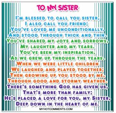 sister quotes -my favorite one by far! I love my sister Little Sister Quotes, Sister Poems, Love My Sister, Little Sisters, My Love, Sister Quotes And Sayings, Big Sister Quotes, Nephew Quotes, Daughter Poems
