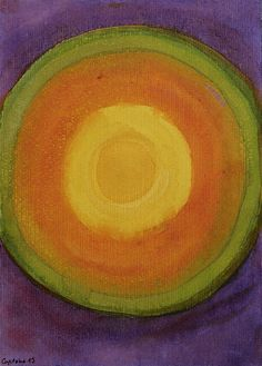 Sun Above Purple Sky by Heidi Capitaine #Art#Artist#Painting#Contemporary#Watercolour#Abstract#FineArt#WallArt#Sun#Circle
