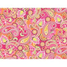 Kentshire Fabric, Paisley Coral  I love paisleys, they offer a wide range of color in a fantasy print that seems to be very soothing to me and yet exciting too!