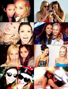 Nina Dobrev and Candice Accola