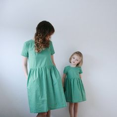 Mommy&Me Dresses  Green Gingham Dresses  Matching Mother by OffOn
