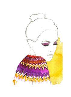 Missoni Moment, #watercolor #fashion #illustration #missoni