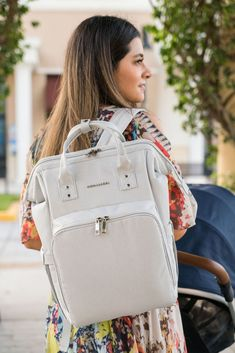 Compact Diaper Bag Backpack - Grey Stone