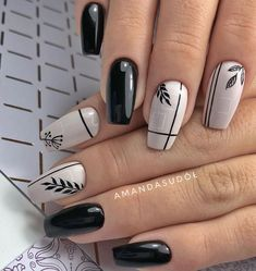 53 Outstanding Short Coffin Nails Design Ideas - Page 15 of 53 - TipSilo Cute Acrylic Nails, Cute Nails, Gel Nails, Coffin Nails, Purple Nail Art, Pretty Nail Art, Stylish Nails, Trendy Nails, Nagellack Design