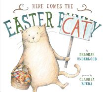 Deborah Underwood (New York Times Best Seller - The Quiet Book) and Claudia Rueda (My Little Polar Bear) have joined forces to create a wonderful Easter picture book with a twist . Here Comes The Easter Cat. Easter Cats, Easter Bunny, Hoppy Easter, Pigeon Books, Easter Books, Mo Willems, What Cat, Children's Picture Books, Here Comes